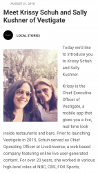 The Barseen App. Owners Sally Kushner and Krissy Schuh both Indicated. Looks lime Serious Prison time for them.